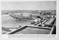 1947 Magazine Photo Chicago's Municipal Airport Northwest Airlines Airplanes