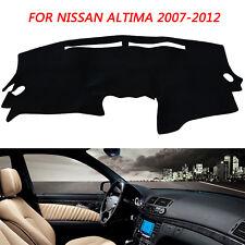 Fits Nissan Altima 2007-2012 No Sensors Brushed Suede Dash Cover Black