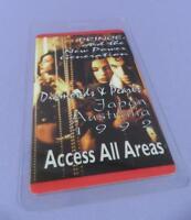 Prince - Diamonds & Pearls Australia/Japan 1992 Tour Access All Areas Pass