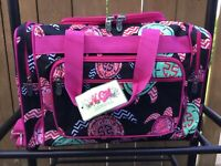 Turtle Black/Hot Pink NGIL Carry on Duffel Gym Overnight Tote Beach Bag 17x11NWT