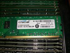 Crucial PC3-10600 4GB DIMM 1333MHz PC3-10600 DDR3 SDRAM CT51264BA1339 Micron