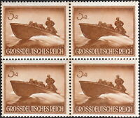 Stamp Germany Mi 873 Sc B257 Block 1944 WW2 Wehrmacht Water Speed Boat MNH