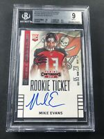 2014 Contenders Mike Evans Rookie Card Auto RC BGS 9 w/10 Auto On Card!