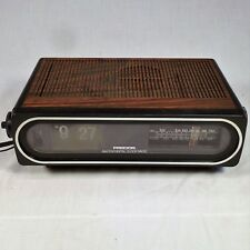 Vtg Flip Clock Radio Precor AM FM w/ Oval Front No. 971 Retro WORKS