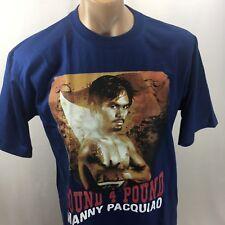 Manny Pacquiao T-Shirt Mens XXL 2XL Blue Tee Boxing Shirt