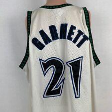 Reebok Authentic Kevin Garnett Minnesota Timberwolves Jersey NBA Sewn Size 56