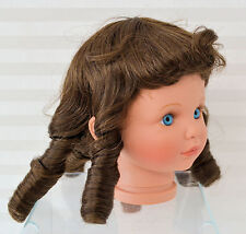 "WIG-DOLL-SIZE 12"" BROWN (STOVE PIPE) WIG HAND STYLED #725"