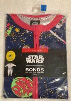 Bonds Star Wars Zippy Wondersuit Blue Pink  Size 3 BRAND NEW WITH TAGS