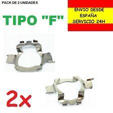 2x CLIP ADAPTADOR BOMBILLA H7 SOPORTE CHAPITA SUJECCION BOMBILLAS FARO LED XENON