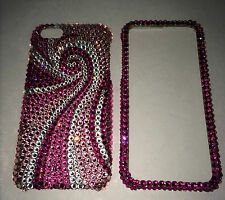 Swarovski Elements Pink Swirly BLING Crystal CASE FOR IPHONE 6 6s 4.7