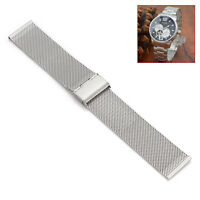 18mm/22mm/24mm Stainless Steel Metal Mesh Watch Band Strap Silver Color