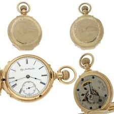 1888 Antique Victorian Elgin Solid 14k Gold 15J Hunter Pocket Watch 18s 140g