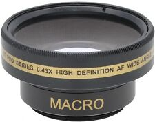 HD WIDE ANGLE WITH MACRO LENS FOR SONY HDR-CX115e HDR-CX116e