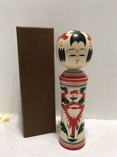 "Japanese Kokeshi Wooden Doll Signed 9.25"" Tall Good Luck Charm Talisman New"