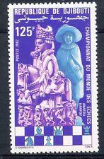 TIMBRE REPUBLIQUE DE DJIBOUTI N° 551 ** CHAMPIONNATS DU MONDE D'ECHECS