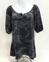 Women's Medium Blue Floral Sonoma Knit Top