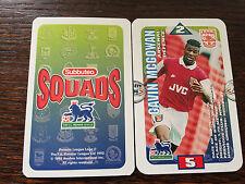 Subbuteo Squads 1996 Trading Card: Arsenal - GAVIN MCGOWAN