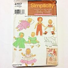 Simplicity Baby Doll Archives Pattern In 3 Sizes S M L #4707