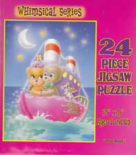 """Jigsaw Puzzle Series WHIMSICAL - LOVE BOAT Bears 24 Piece 12""""x9"""""""