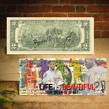 Michael Jordan Life is Beautiful Dream is a Gift Pop Art $2 Bill Signed by Rency