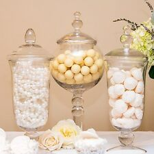 Glass Globe Pedestal Apothecary Jar Wedding Candy Buffet Decoration Centerpiece