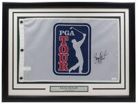Payne Stewart Signed Framed PGA Golf Tour Flag JSA Hologram