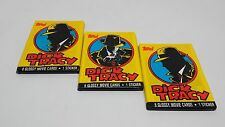 Dick Tracy Movie 1989 Trading Card Sealed Wax Packs Lot of (3) Unopened