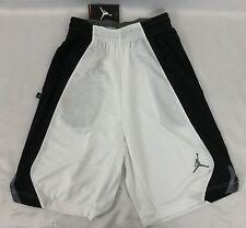 Nike Jordan MEN'S Athletic Basketball Shorts White Black Gray 820645 Size M