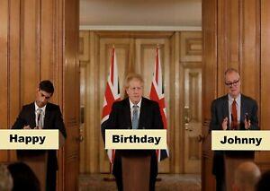 *5 Styles* BORIS JOHNSON Personalised BIRTHDAY CARD, party happy paper humour