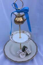 Golden Wedding Cake Stand 3 Tier Bridal Serving Tray Rocco Plate
