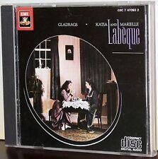 EMI CD CDC 7 47093 2: Katia & Marielle LABEQUE - Gladrags - 1983 JAPAN