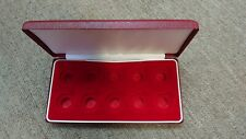 More details for empty red box for ten full sovereign gold coins in good condition