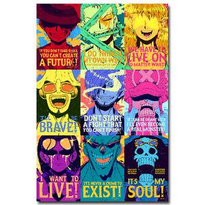 New One Piece Strong World Anime Silk Poster 12x18 24x36 inch Luffy Zoro
