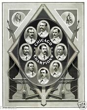 1876 - 1877 Chicago White Stockings Team Picture Art Print Today's Chicago Cubs