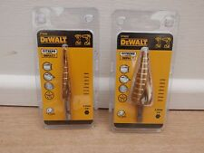 PAIR OF DEWALT IMPACT RATED EXTREME HOLE ENLARGER STEP DRILLS DT5026 DT5030
