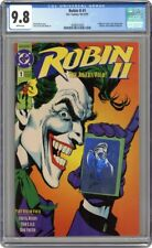 ROBIN II JOKERS WILD 1 CGC 9.8 JOKER Robin 2 ii ll Batman Joker's 1991 Giordano