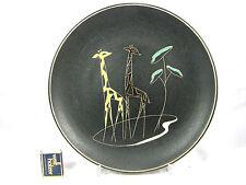 50 ´s design Ruscha Keramik  wall plate Wandteller  Giraffe 717 / 2  1/2 27 cm