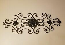 Large Vintage Wrought Iron Fleur De Lis Wall Plaque Home & Garden Hanging Sign