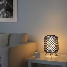 "IKEA GOTTORP Handmade Bamboo Table Lamp Black 9"" x 13"" Bulb Included! 404.409.45"