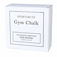 Gym Chalk by Sportsmith for Lifting Weights, 1lb Carton, 8 Count of 2 oz Blocks