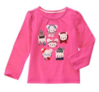 Gymboree Pink Critters Tee Long Sleeve Top NEW Size 18-24 months