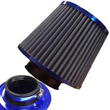 Acabado Azul Universal Kit De Inducción Filtro Aire Coche Alta Potencia Cono de Malla de deportes