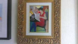 Daily News by Itzchak Tarkay Quality Serigraph on Canvas