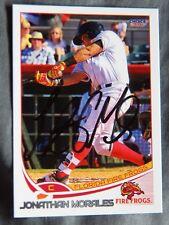 Atlanta Braves Jonathan Morales Signed 2017 Florida Fire Frogs Auto Card