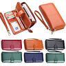 Womens Zipper Wallet Long Crad Holder PU Leather Clutch Phone Bag Purse Handbag
