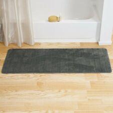 "Lavish Home Memory Foam Striped Extra Long Bath Mat, 24 by 60"" - Silver"