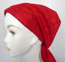 Red Dots Batik Chemo Cancer Hat Alopecia Cotton Hair Loss Scarf Turban Head Wrap