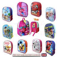 BNIP Kids School Disney Junior Bag Backpack Rucksack PE Shoulder Bags Boys Girls