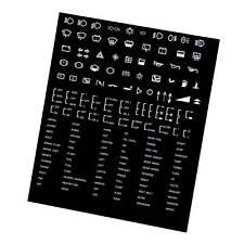 Custom Dash Board Sticker Decal Sheet - Motorsport / Race / Rally / Kit Car