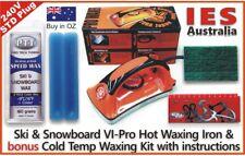 Ski & Snowboard Vitora VI Pro Hot Waxing Iron & Blue Colder Temp Wax Kit + Guide